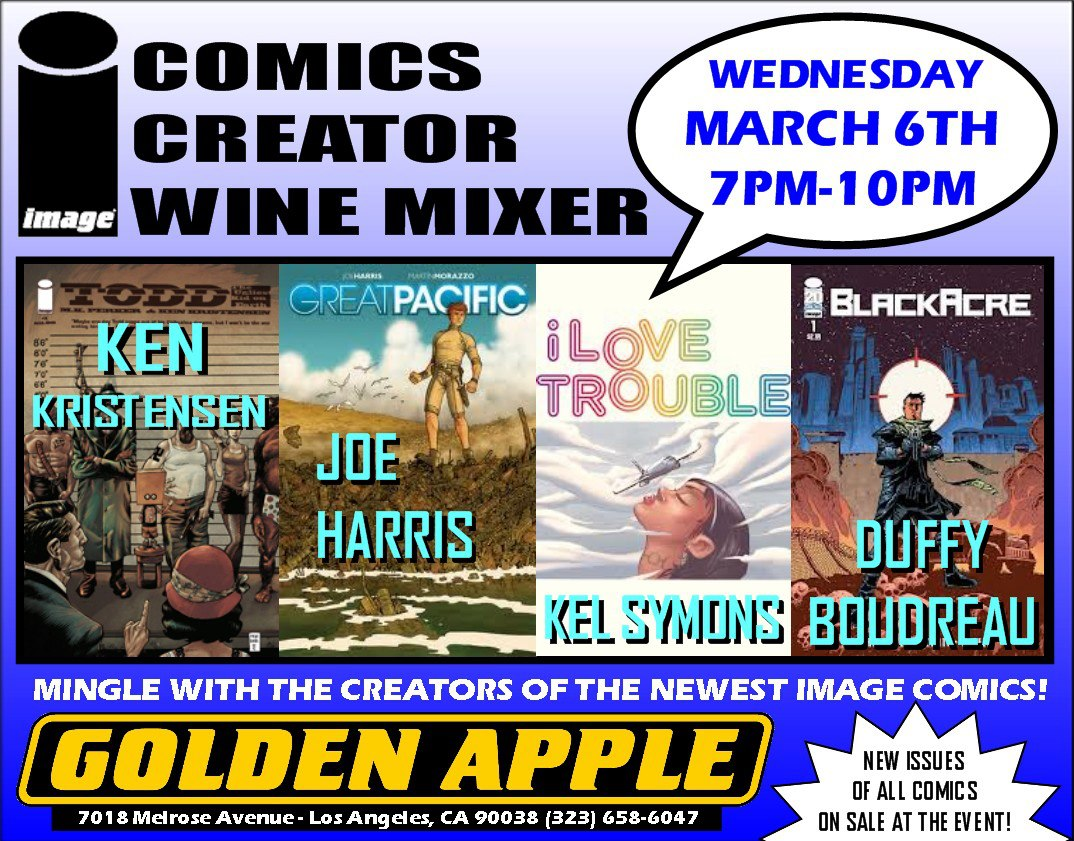 Golden Apple Image Comics Mixer