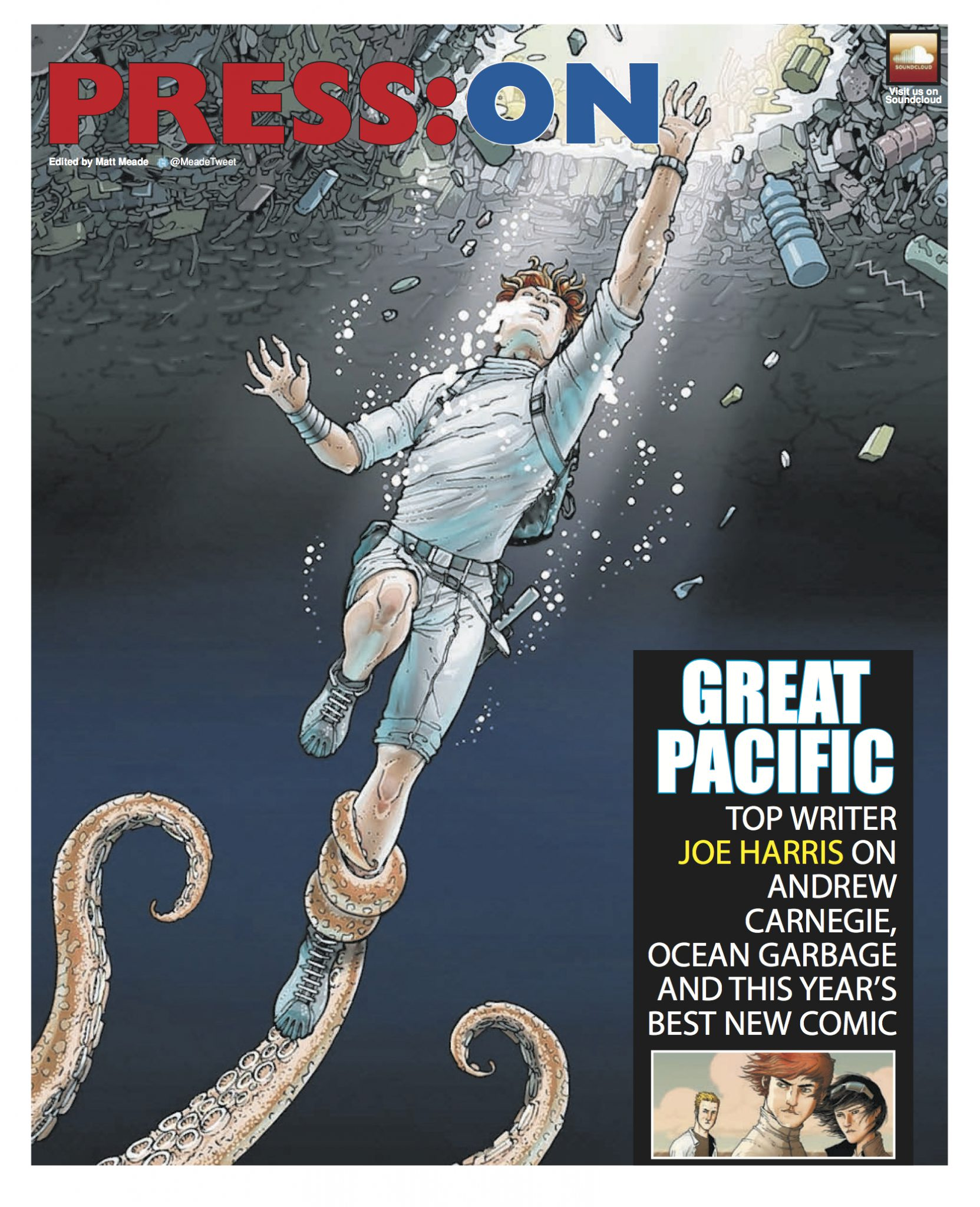 Feature article on Great Pacific, and interview with Joe Harris Page 1