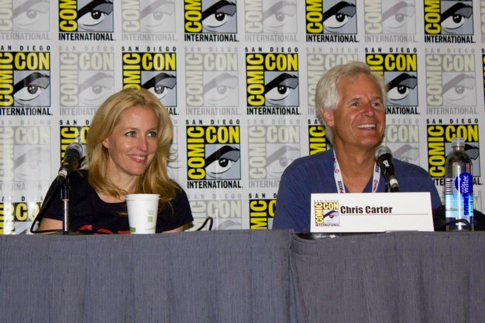 Gillian Anderson and Chris Carter
